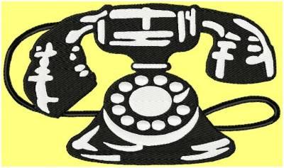 motifs de broderie machine téléphone ancien
