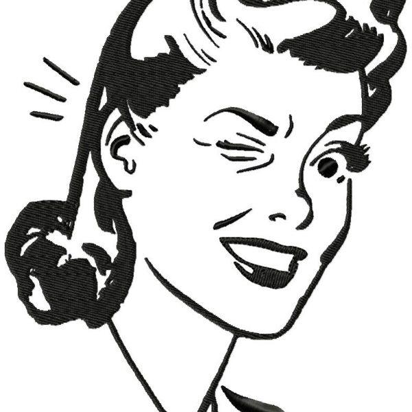 Motifs de broderie machine femme vintage année 50