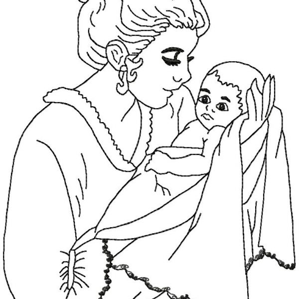 motifs de broderie machine tendresse femme et bébé
