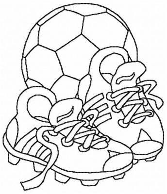 BALLON ET CRAMPONS de football motif de broderie machine