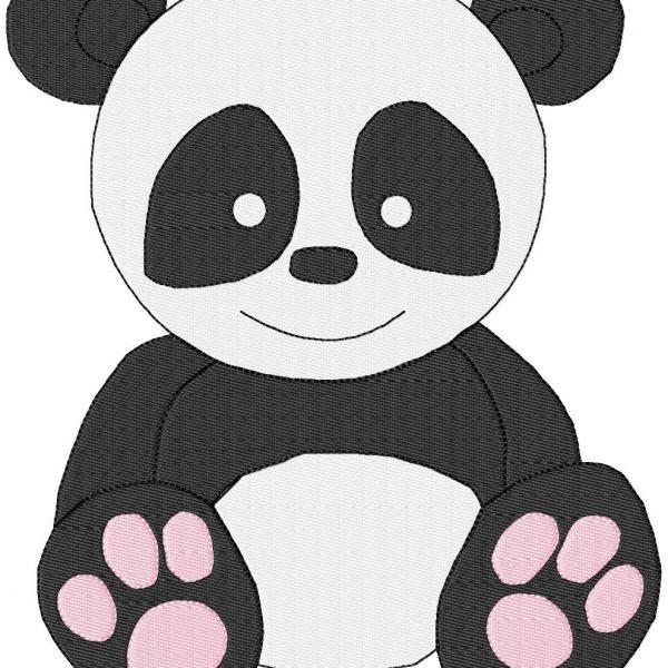 motifs de broderie machine panda