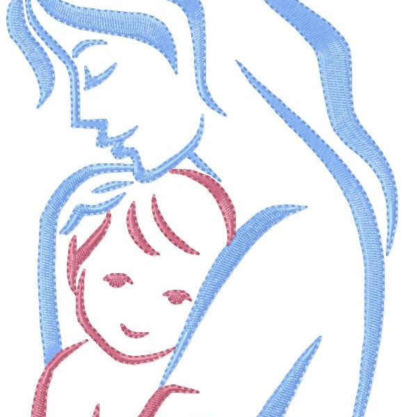 motifs de broderie machine femme et enfant