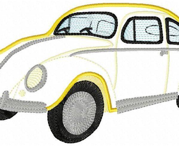 Volkswagen coccinelle motif de broderie machine