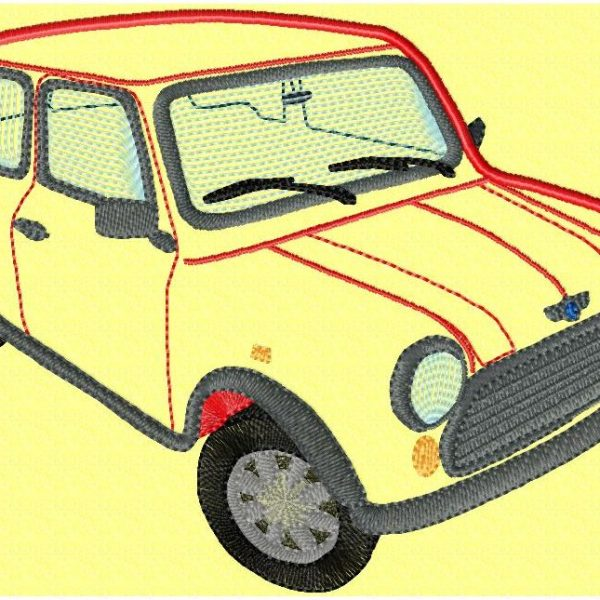 Austin miniCooper motif pour machine à broder