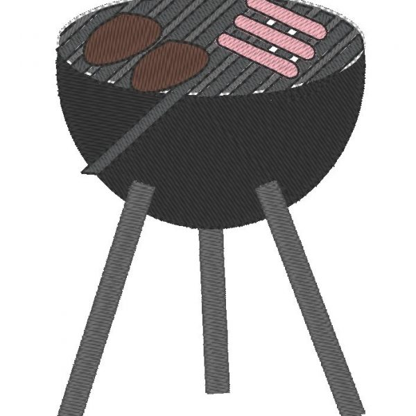 barbecue motif de broderie machine