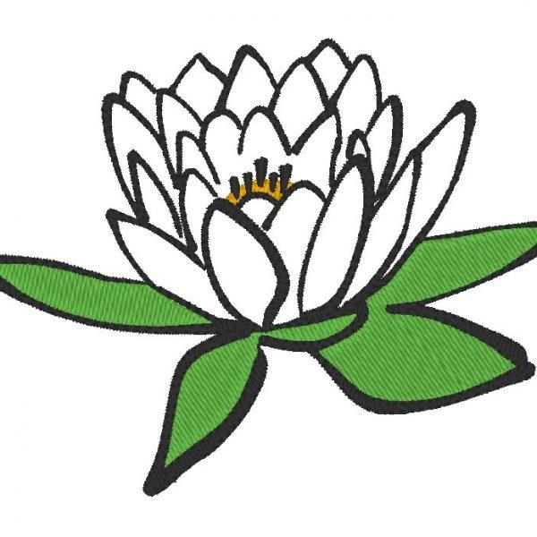 fleur de lotus motif de broderie machine