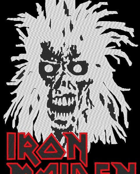 motif de broderie machine iron maiden ACDC embroidery