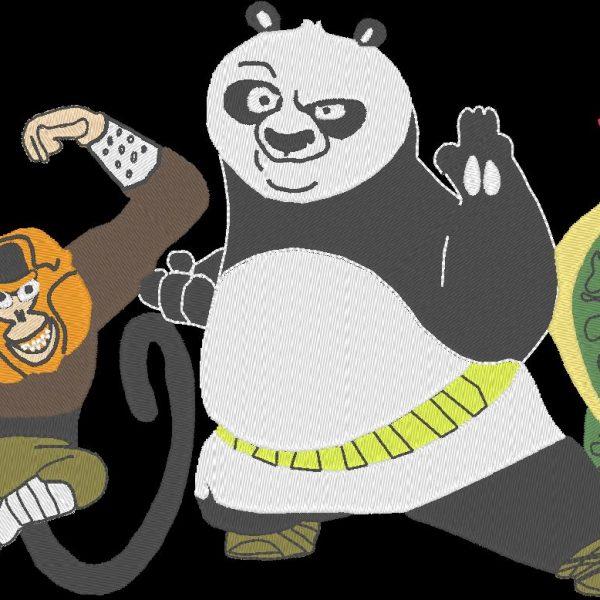 motif de broderie machine Kung-fu panda