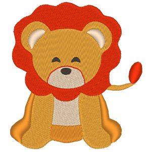 adorable lion motif de broderie machine