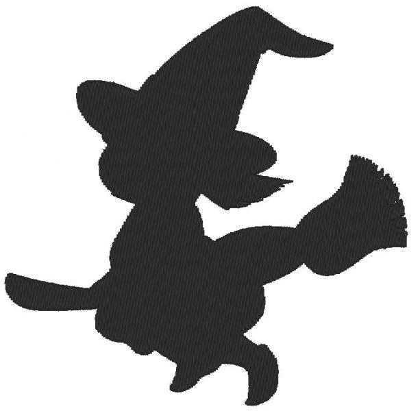 ombre petite sorcière motif de broderie machine gratuit
