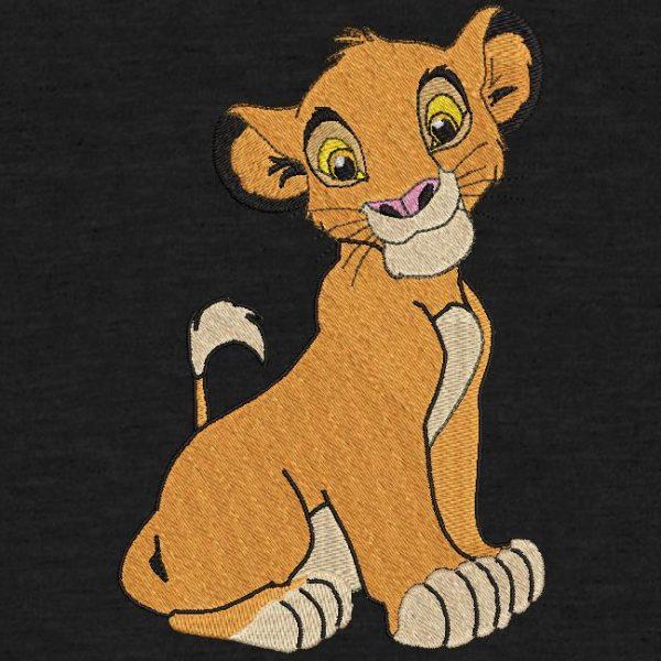 motif de broderie machine simba le roi lion pumba et timon