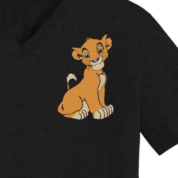 motif de broderie machine simba le roi lion