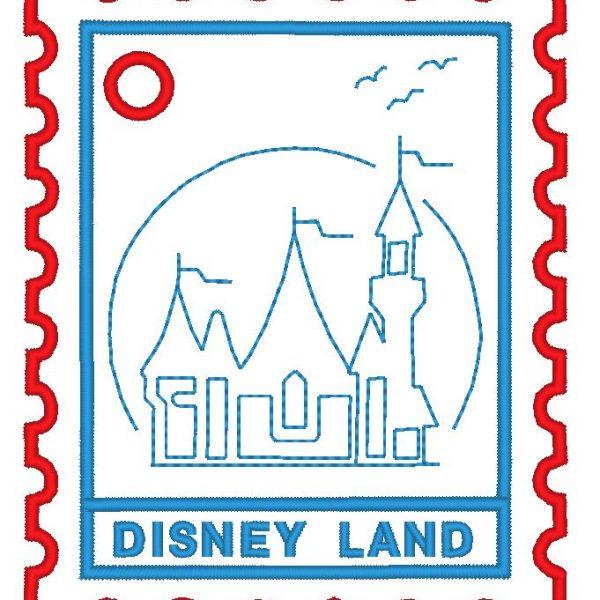 motif broderie machine de timbre disney land