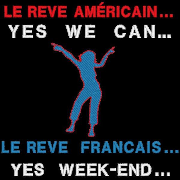 yes we can motif de broderie machine américain et français