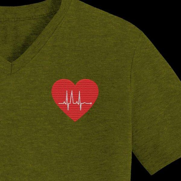 cœur electro motif de broderie machine gratuit