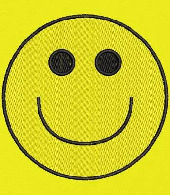 motif de broderie machine smiley émoticône content