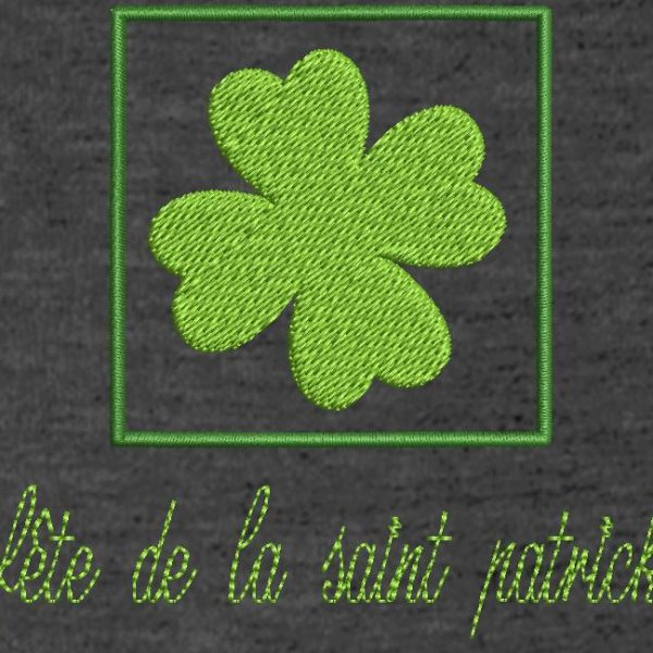Motif de broderie machine fête de la saint patrick ou st patrick's day free embroidery