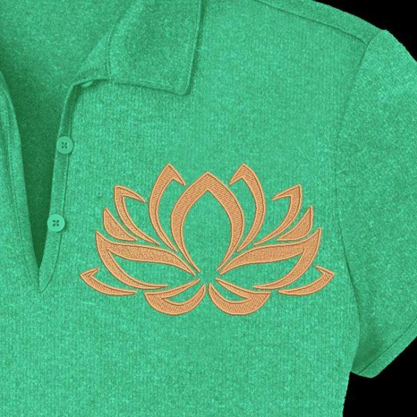 fleur de lotus 2 motif de broderie machine