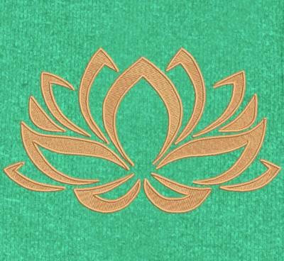 fleur de lotus 2 motif de broderie machine chinois et japonais