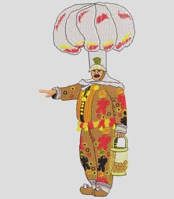 motif de broderie machine gilles de binche carnaval belgique