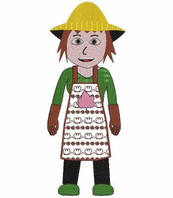 motif de broderie machine métiers jardinière ou femme jardinier