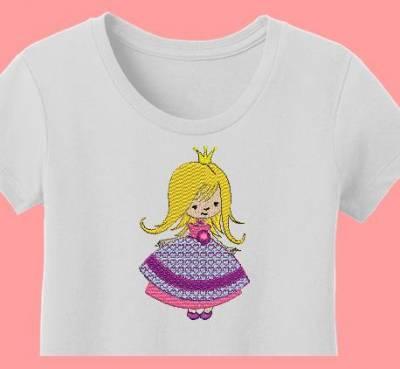 jolie petite princesse motif de broderie machine