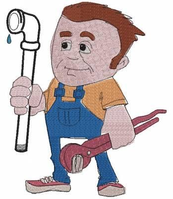 motif de broderie machine plombier et métiers