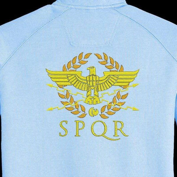 Motif de broderie machine qui représente un aigle de la légion romaine