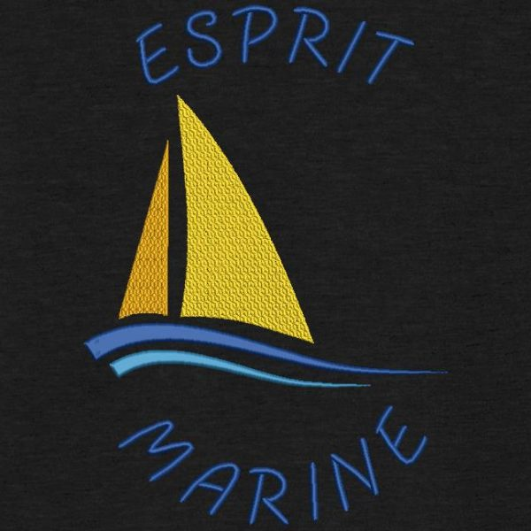 esprit marine motif de broderie machine bateau à voile