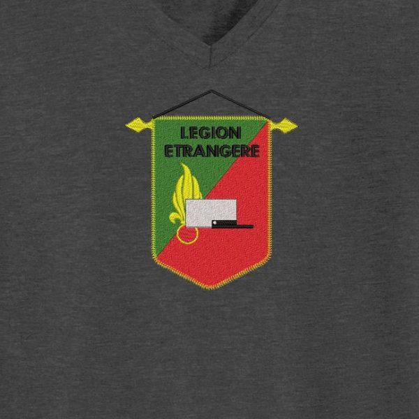 Motif de broderie machine qui représente un fanion de la légion étrangère