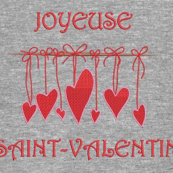 """Motif de broderie machine """"joyeuse saint valentin """""""