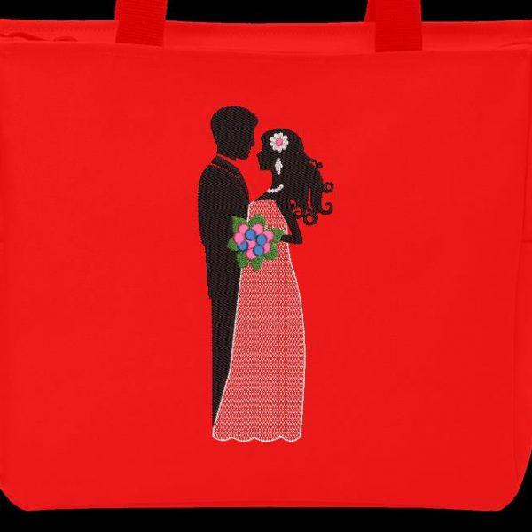 Motif de broderie machine les mariés