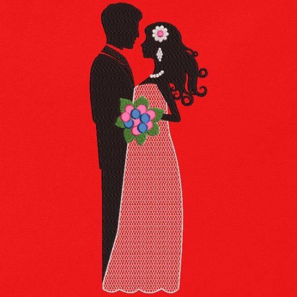 Motif de broderie machine les mariés,mariage