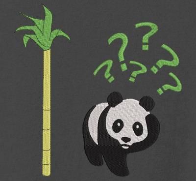 Motif de broderie machine vous avez dit bambou avec un panda géant