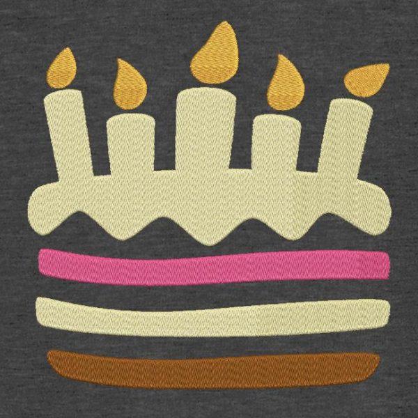 Motif de broderie machine gâteau d'anniversaire 11