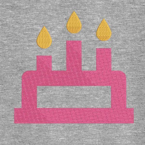 Motif de broderie machine gâteau d'anniversaire 12.