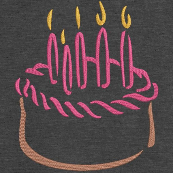 Motif de broderie machine gâteau d'anniversaire 13.
