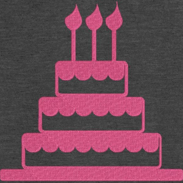 Motif de broderie machine gâteau d'anniversaire 3 motif de broderie machine à 1 euros