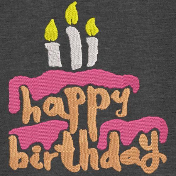 Motif de broderie machine gâteau d'anniversaire 5.