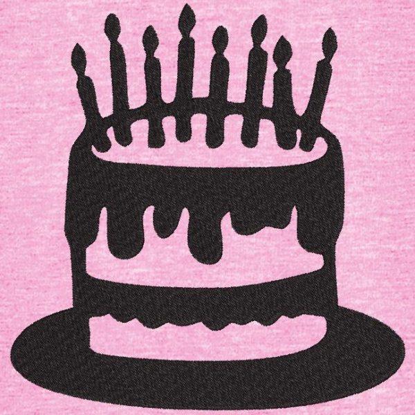 Motif de broderie machine gâteau d'anniversaire 6