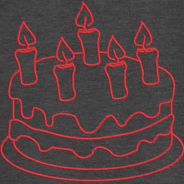Motif de broderie machine gâteau d'anniversaire 8.