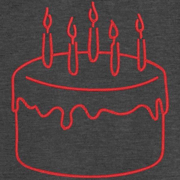 Motif de broderie machine gâteau d'anniversaire 9.
