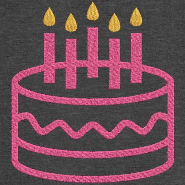 Motif de broderie machine gâteau d'anniversaire 10