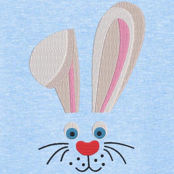 Motif de broderie machine visage de lapin