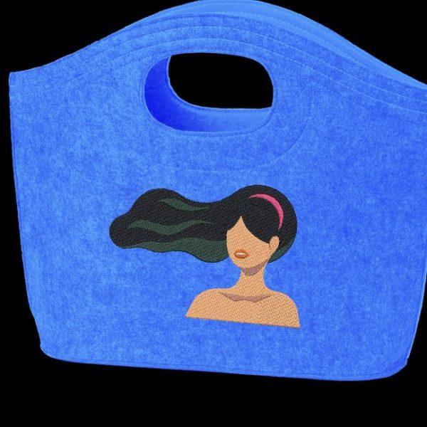 Motif de broderie machine cheveux au vent