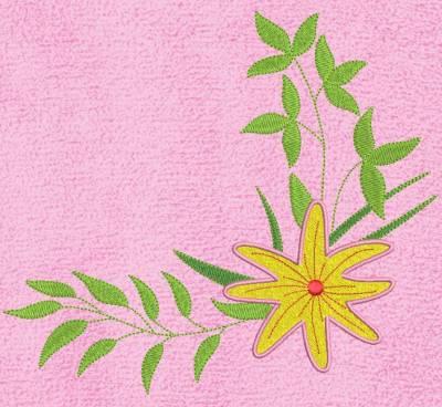 composition florale 3 . Motif de broderie machine fleurs et feuilles