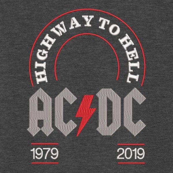 Motif de broderie machine ACDC highway to hell