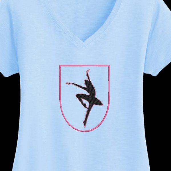 Motif de broderie machine d'une danseuse en appliqué 2.