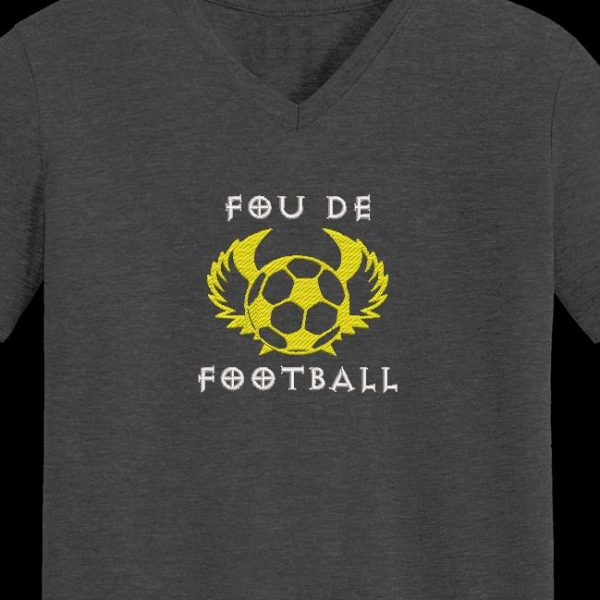 Motif de broderie machine fou de football
