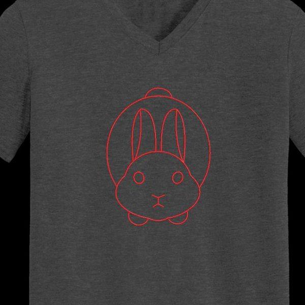 Motif de broderie machine d'un lapin redwork